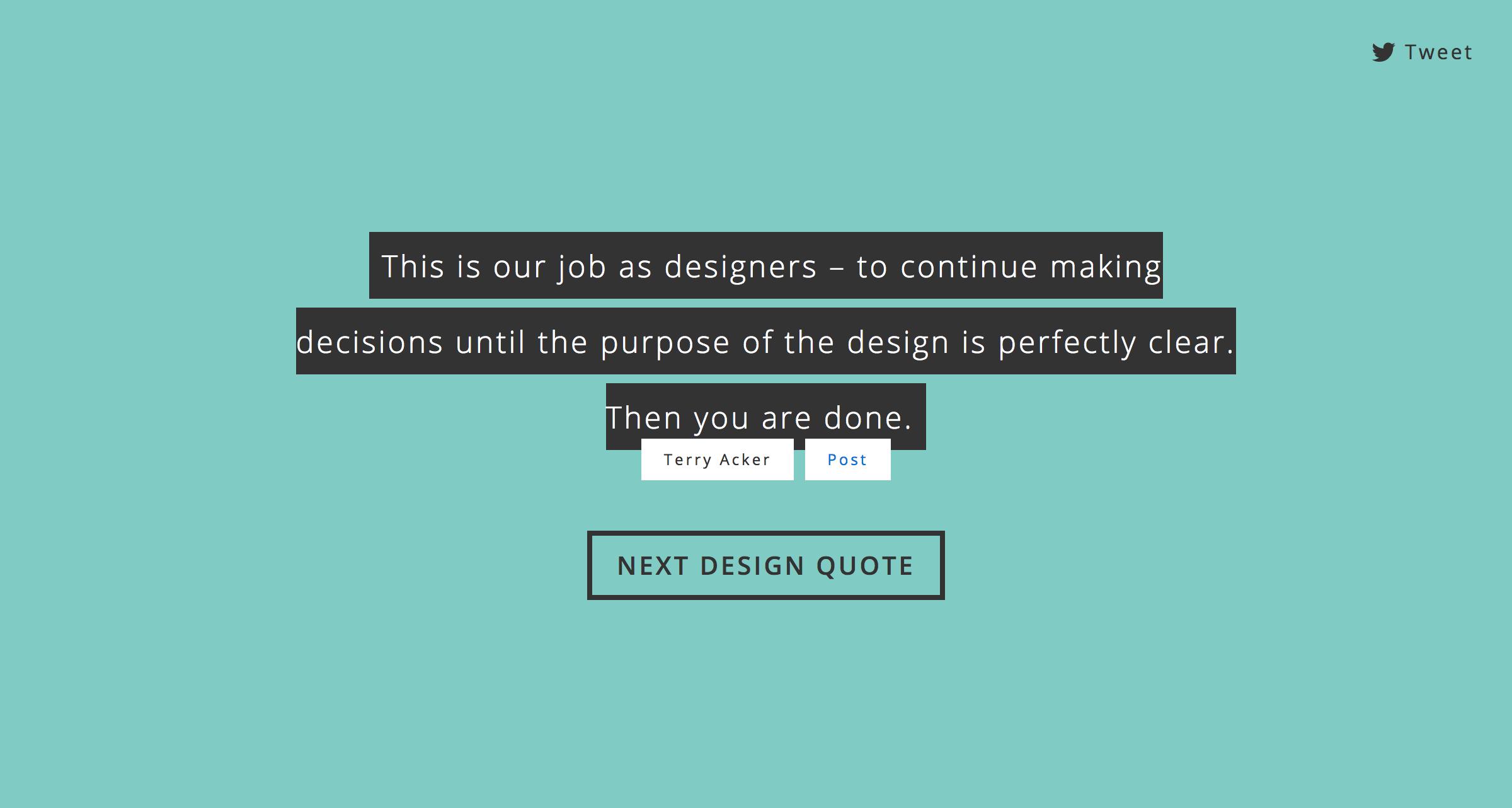 Design quote generator